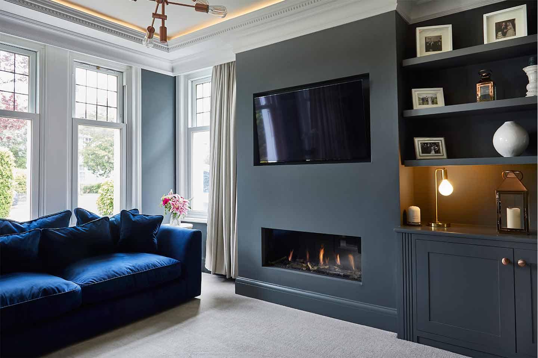 living room renovation caridff