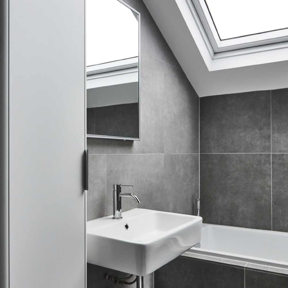 grey bathroom design cardiff